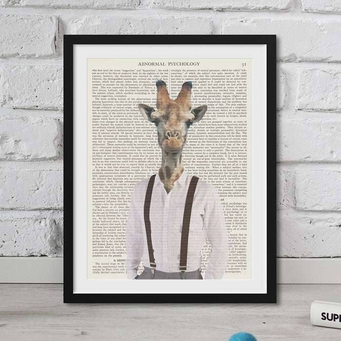 Giraffe Head Hipster Animal