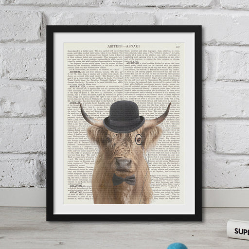 Highland Cow Gent Hipster Animal