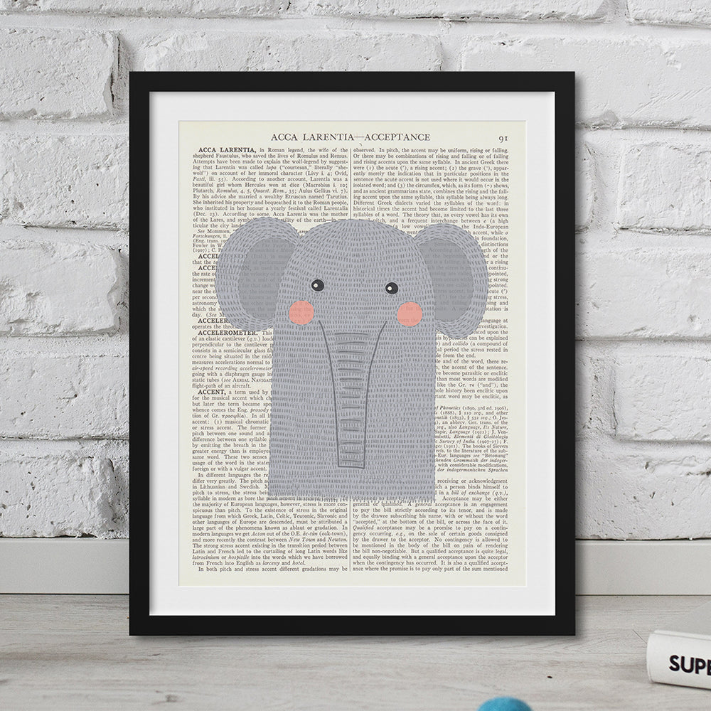 Elephant Nursery Art