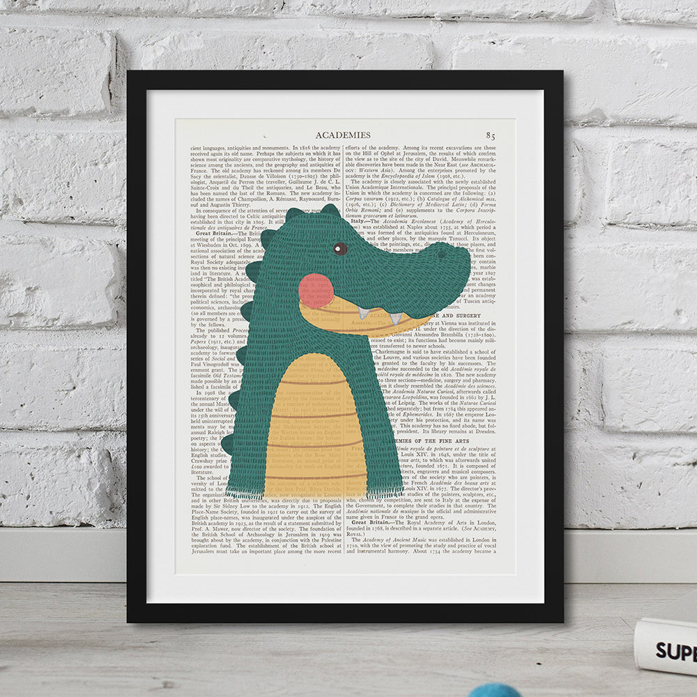 Crocodile Nursery Art