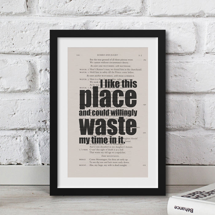 I like this place and could willingly waste my time in it. Shakespeare housewarming gift