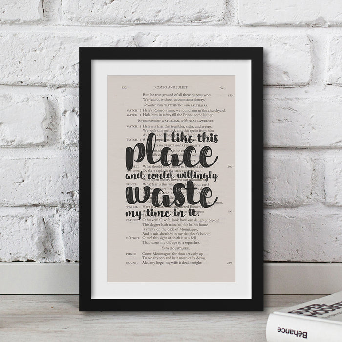 shakespeare gift ideas housewarming quote I Like This Place