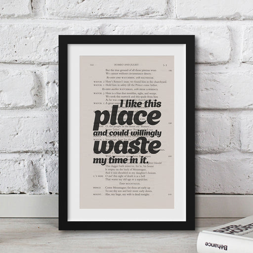 best house warming gift Shakespeare print