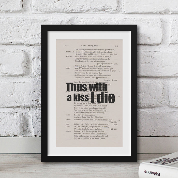 gifts for shakespeare lovers gifts for book lovers Romeo and Juliet quote
