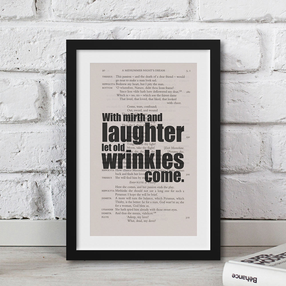 shakespeare framed book page print