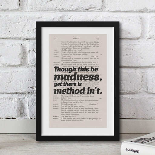 Shakespeare - Though This Be Madness - Framed Book Page Prints