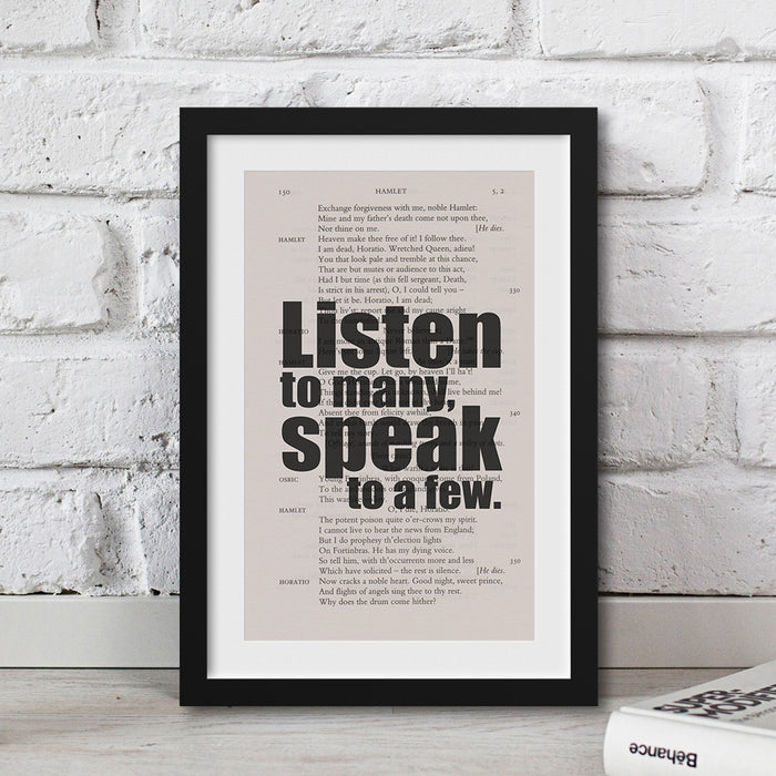 Shakespeare - Listen To Many, Speak To A Few