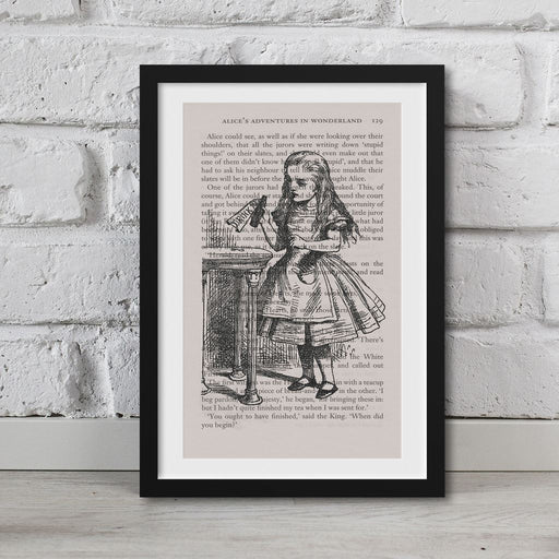 Alice In Wonderland Book Page Art Drink Me Potion Print