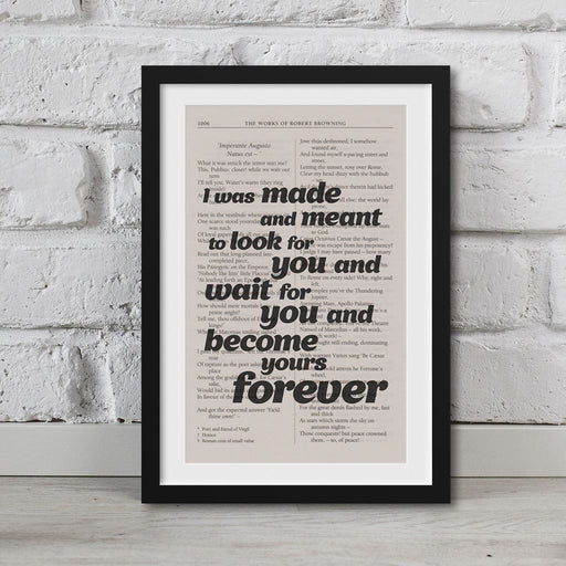 The Poems Of Robert Browning Book Page Art Become Yours Forever Print