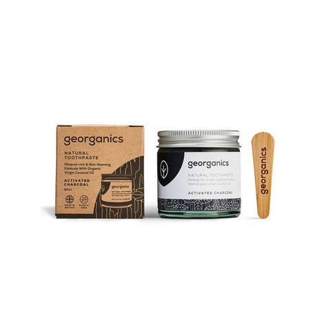 Pasta de Dentes Natural Georganics – Carvão Vegetal Ativador . 60ml