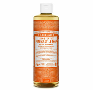 Sabonete Líquido Dr. Bronner's . Bio . Árvore-do-chá (Tea Tree) . 475ml