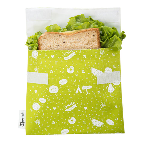 Saco Lanche Kids Verde . Eco .  Qwetch