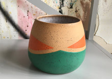 Load image into Gallery viewer, Whiskers Small Pots, Teal and Orange