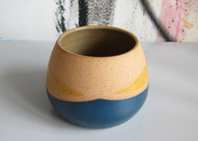 Load image into Gallery viewer, Whiskers Small Pots, Navy and Yellow