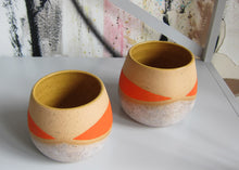 Load image into Gallery viewer, Whiskers Small Pots, Frosty and Dayglow Orange