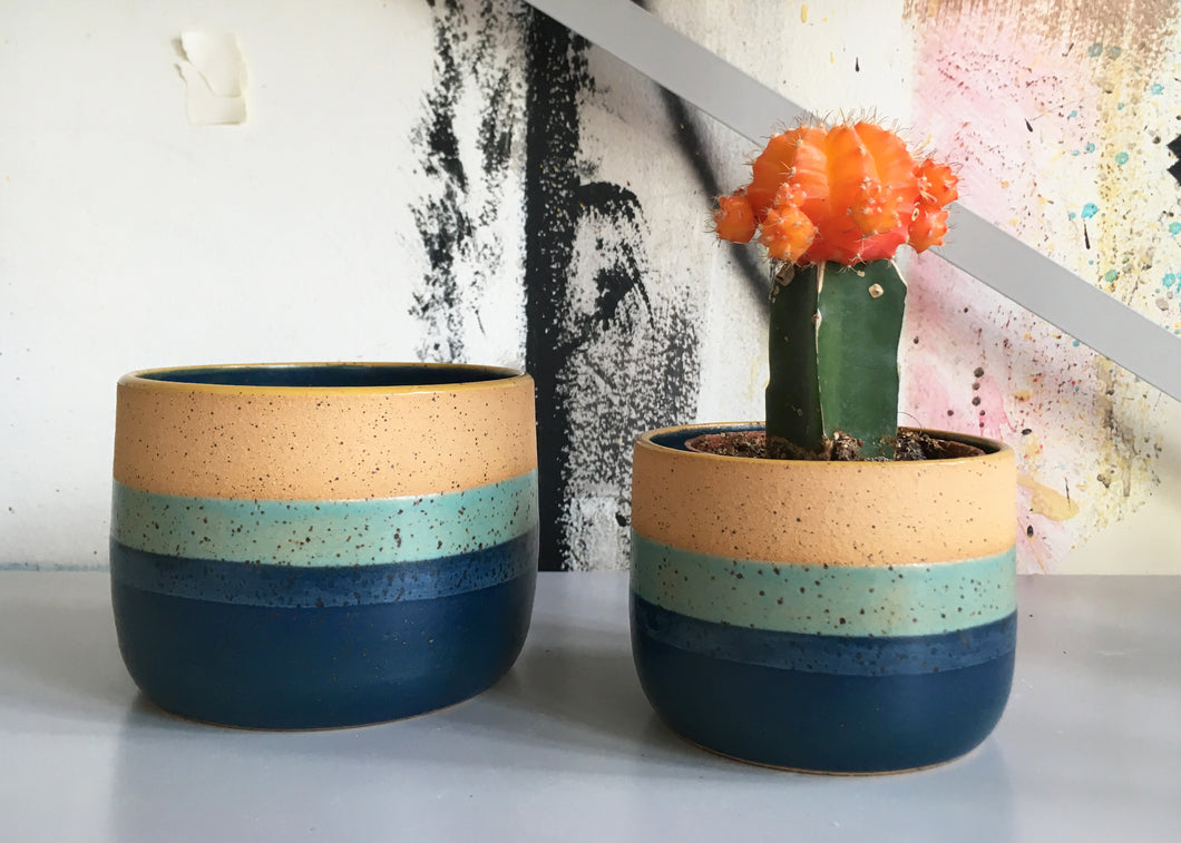 Blue Sunset Straight Planter