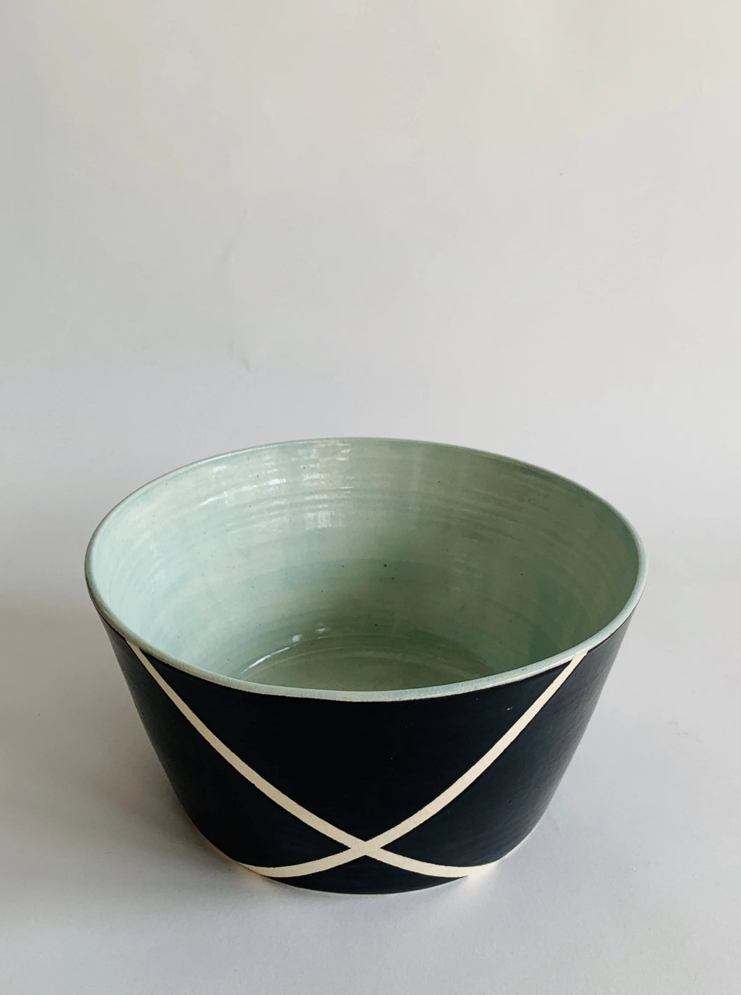 Argyle Black and White Nut Bowl