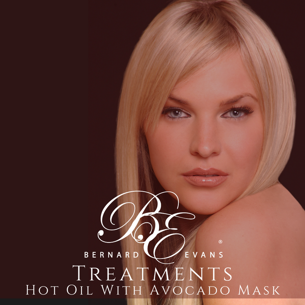 Bernard Evans Celebrity HAIR TREATMENTS - Damaged Hair Types - Hot Oil Treatments with avocado mask (Services starting from $57). Price shown below is deposit to confirm appointment