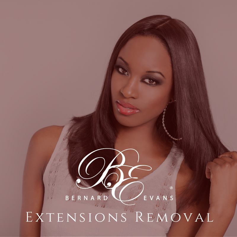 Bernard Evans Celebrity EXTENSIONS REMOVAL - Extension Removal 4 Full Sew In After 12 weeks (Services starting from $175). Price shown below is deposit to confirm appointment