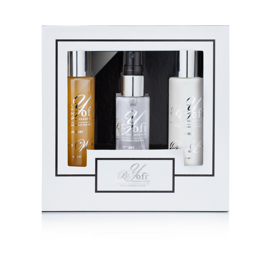 BEYofi Fragrances Mens Gift Set: Body Spray, Body Wash, Body Lotion