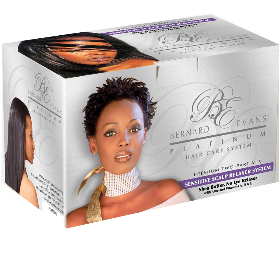 Bernard Evans Platinum Hair Care System - Relaxer (For Sensitive Scalp Formula With Shea Butter)