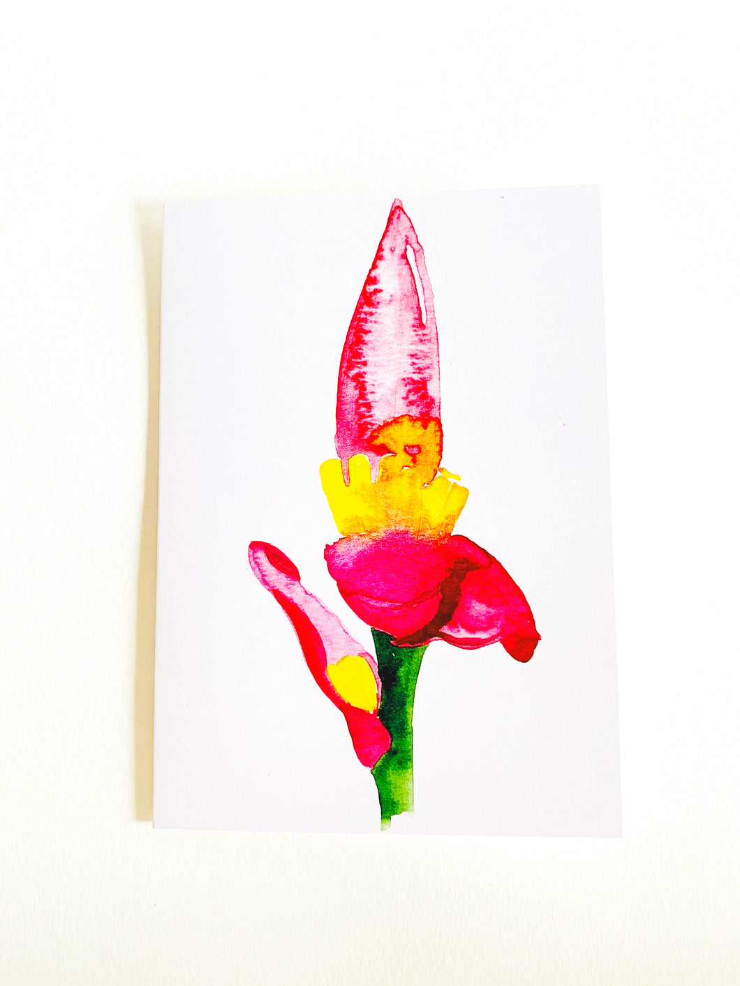 Banana Flower Notecard