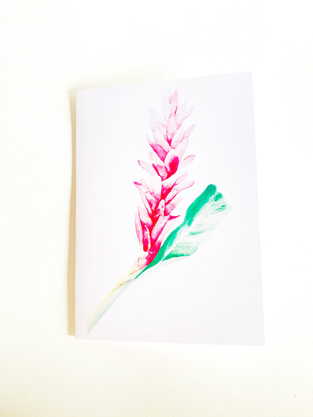 Pink Ginger Notecard
