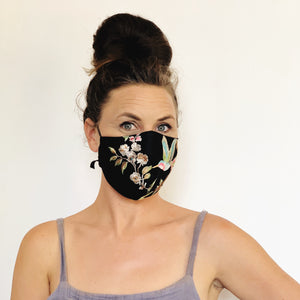 Fancy Face Mask- mesh embroidery