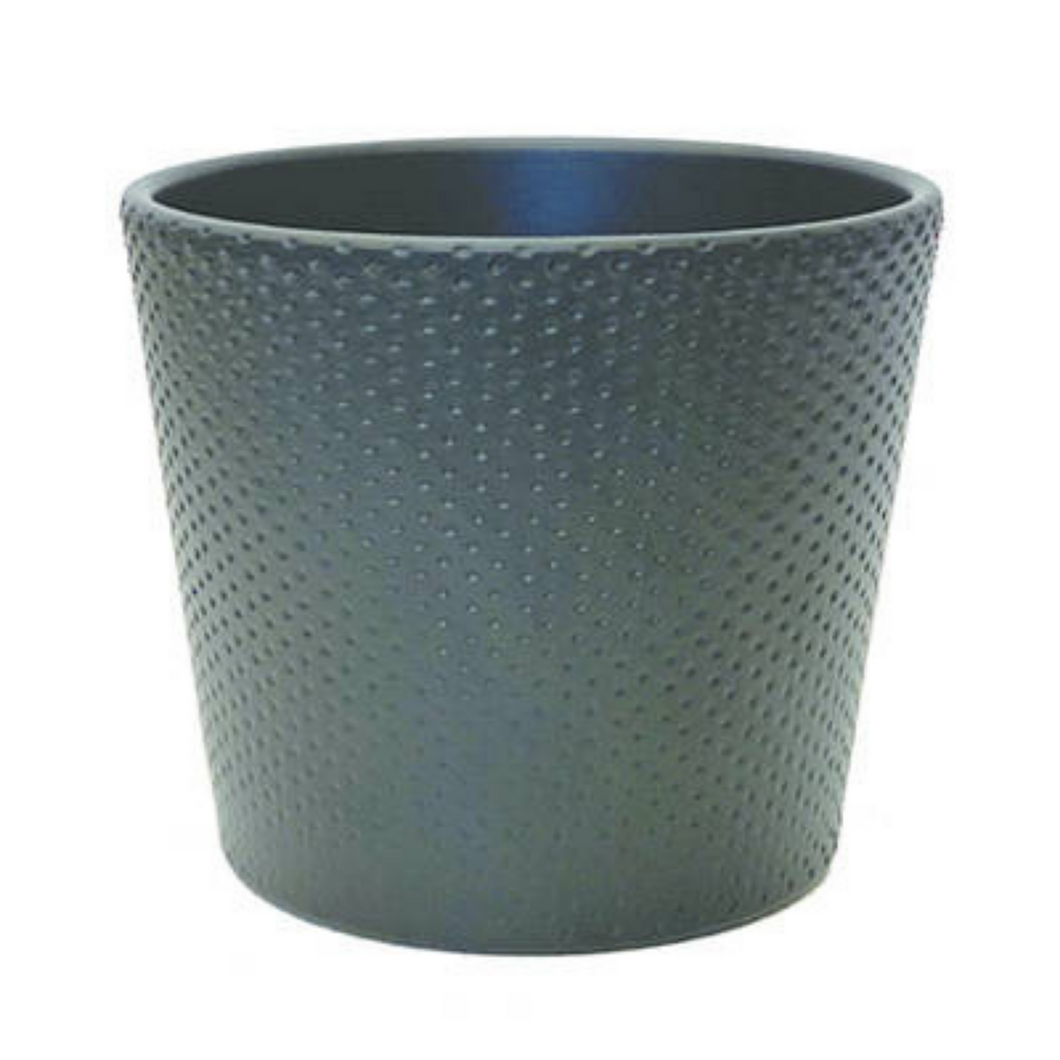 Matte Black Ceramic Pot 15cm