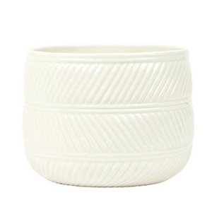 Eva White Gloss Ceramic Pot 15cm