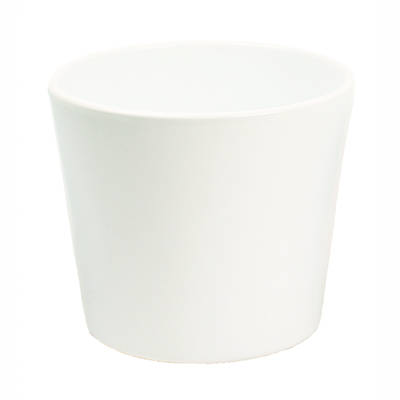 White Gloss Ceramic Pot 15cm