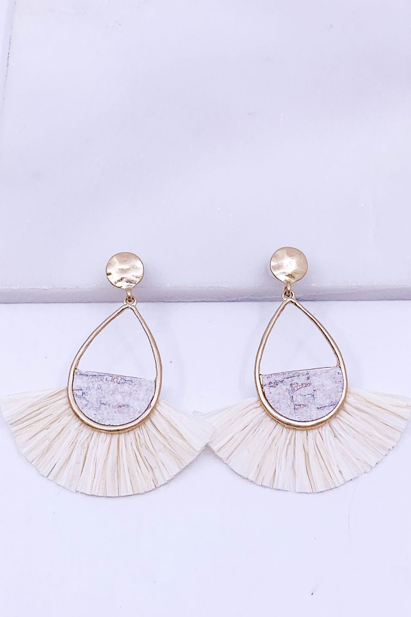 SEE YOU AGAIN EARRINGS - IVORY