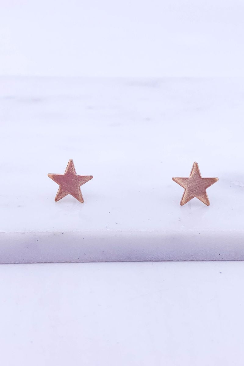 STAR STUDS EARRINGS - GOLD