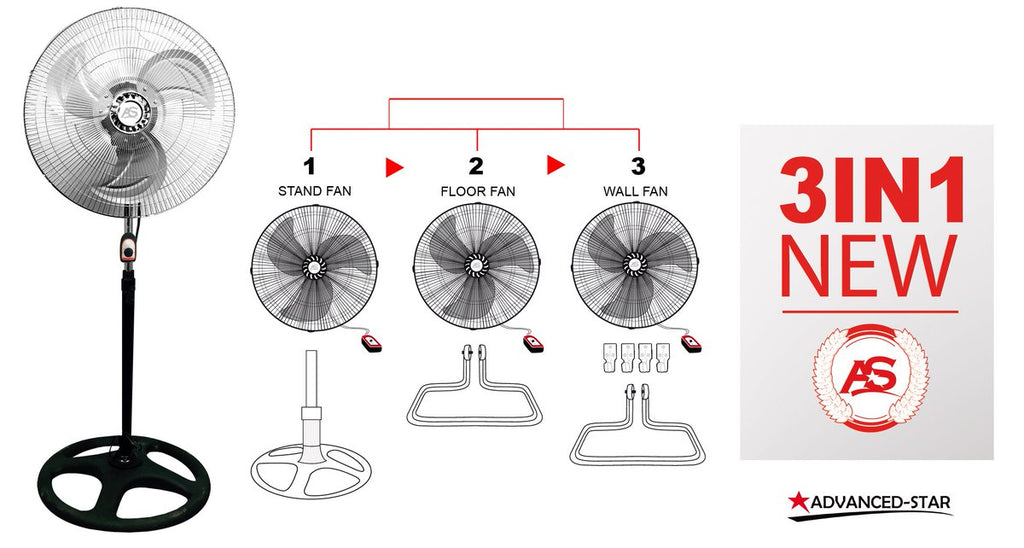 Convertable Oscillating fan