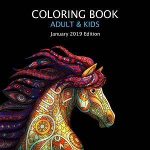 FREE GIFT! DIGITAL HORSE COLORING BOOK JANUARY 2019 EDITION ...
