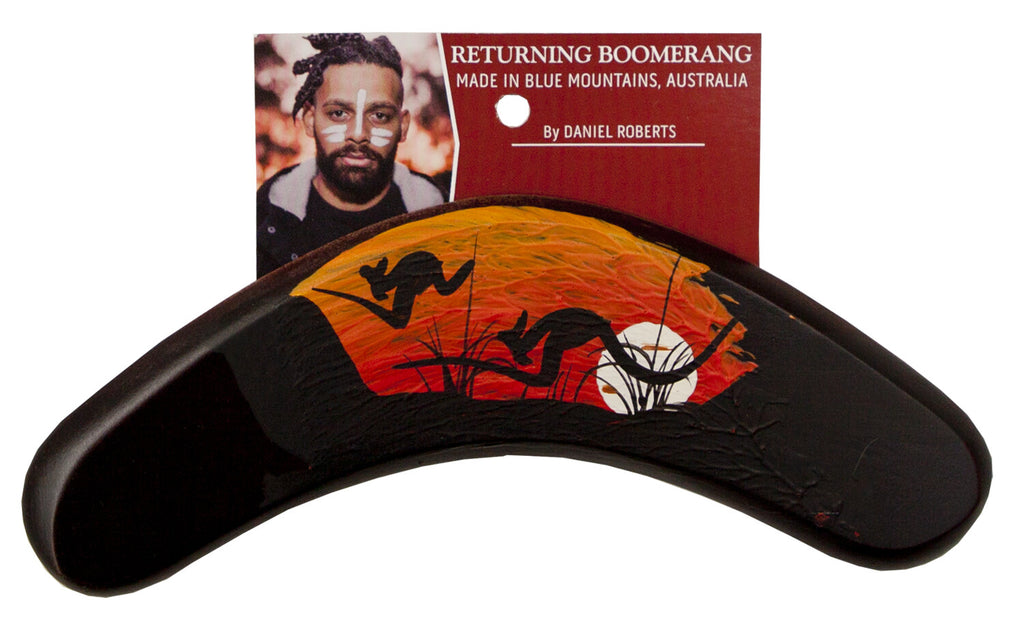 Australian indigenous Artist hand crafted Boomerang by Daniel Roberts 24cm Blue Mountains, New South Wales, Australia