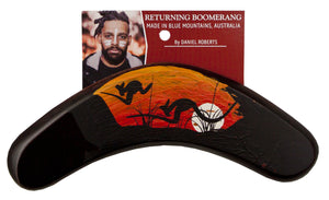Australian indigenous Artist hand crafted Boomerang by Daniel Roberts 15cm small Blue Mountains, New South Wales, Australia