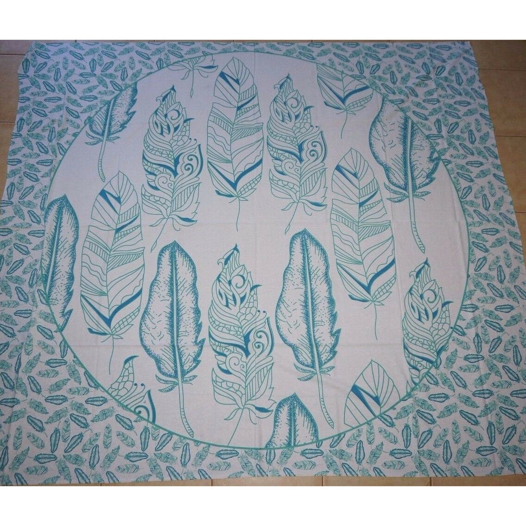 Throw Queen Bed table cover wall hanging sheet cotton India Dream Feather