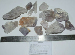 Amethyst Black Obsidian Clear Rose Smokey Quartz Fluorite ROUGH 1kg Bulk stones