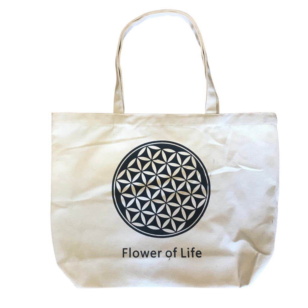 TOTE BAG  Cotton Shopping Bags reusable Mindfulness Tree of life Aum Flower
