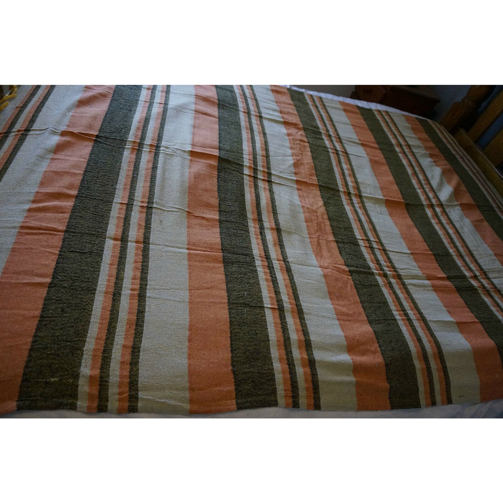 Woven single Bed sheet table  throw cover wall hanging wall art bedroom brown