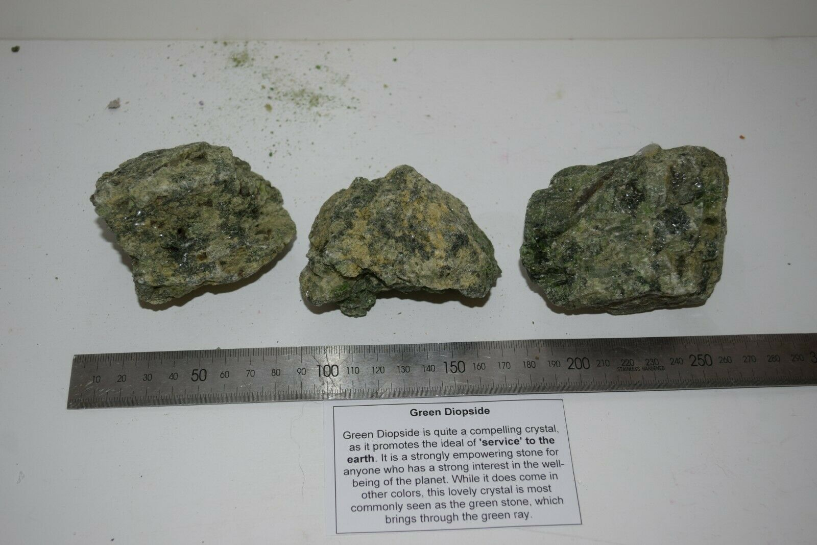 Green Diopside Gemstones bulk 1 kilo bag natural rough mixed stones sizes