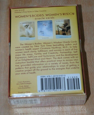 Women's Bodies Women's Wisdom Cards Oracle Tarot deck Dr Northrup
