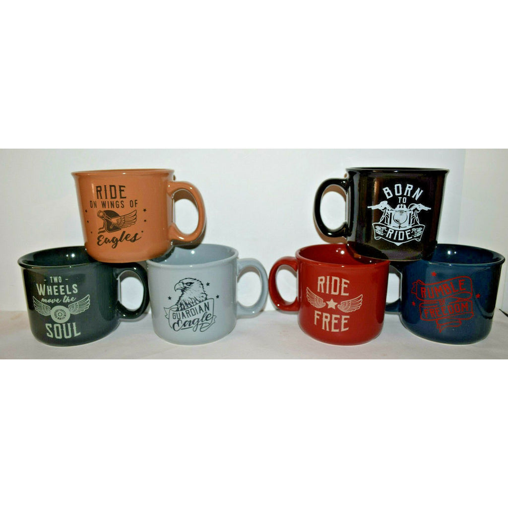 Coffee Mug motorbike motorcycle enthusiast man cave born to ride 6 designs biker