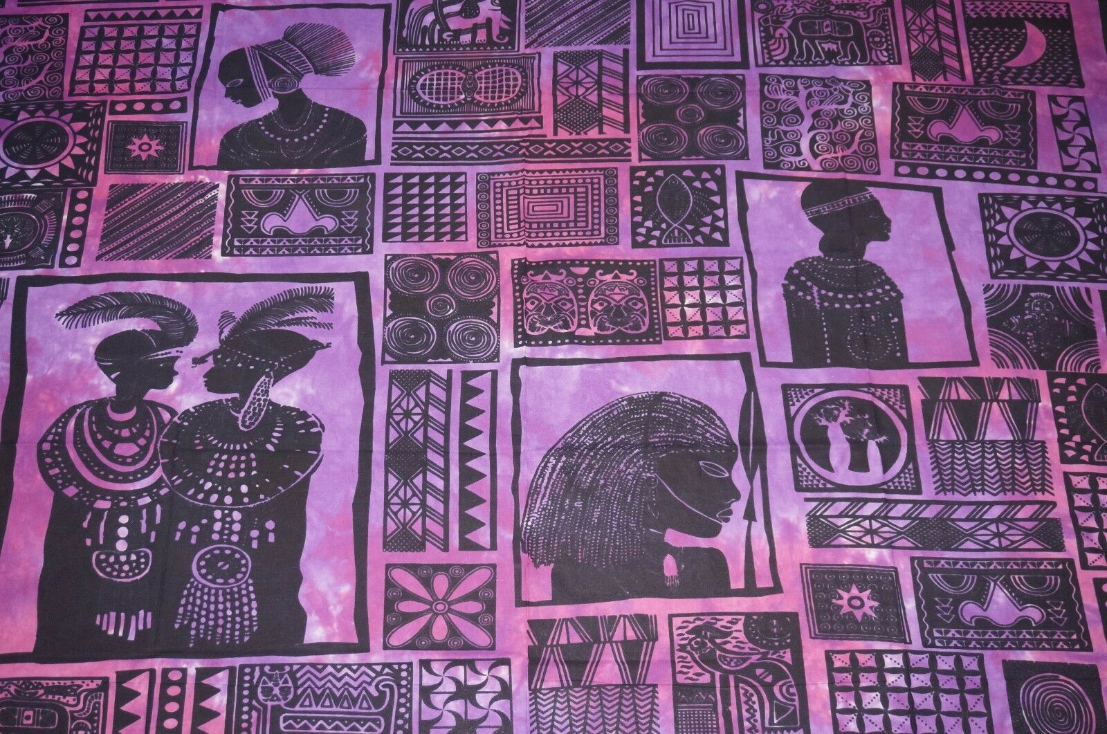 Throw Queen Bed table cover wall hanging sheet cotton India Safari Africa