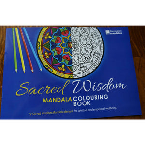 Sacred Wisdom Mandala Coloring book stained glass decal designs wellbeing NEW
