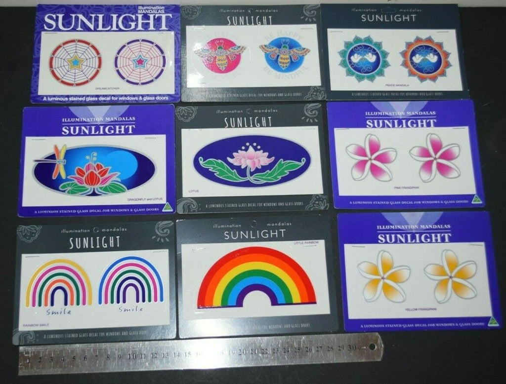 Sunlight Mandalas Sticker window Car bumper Stained Glass Mirror door decal art