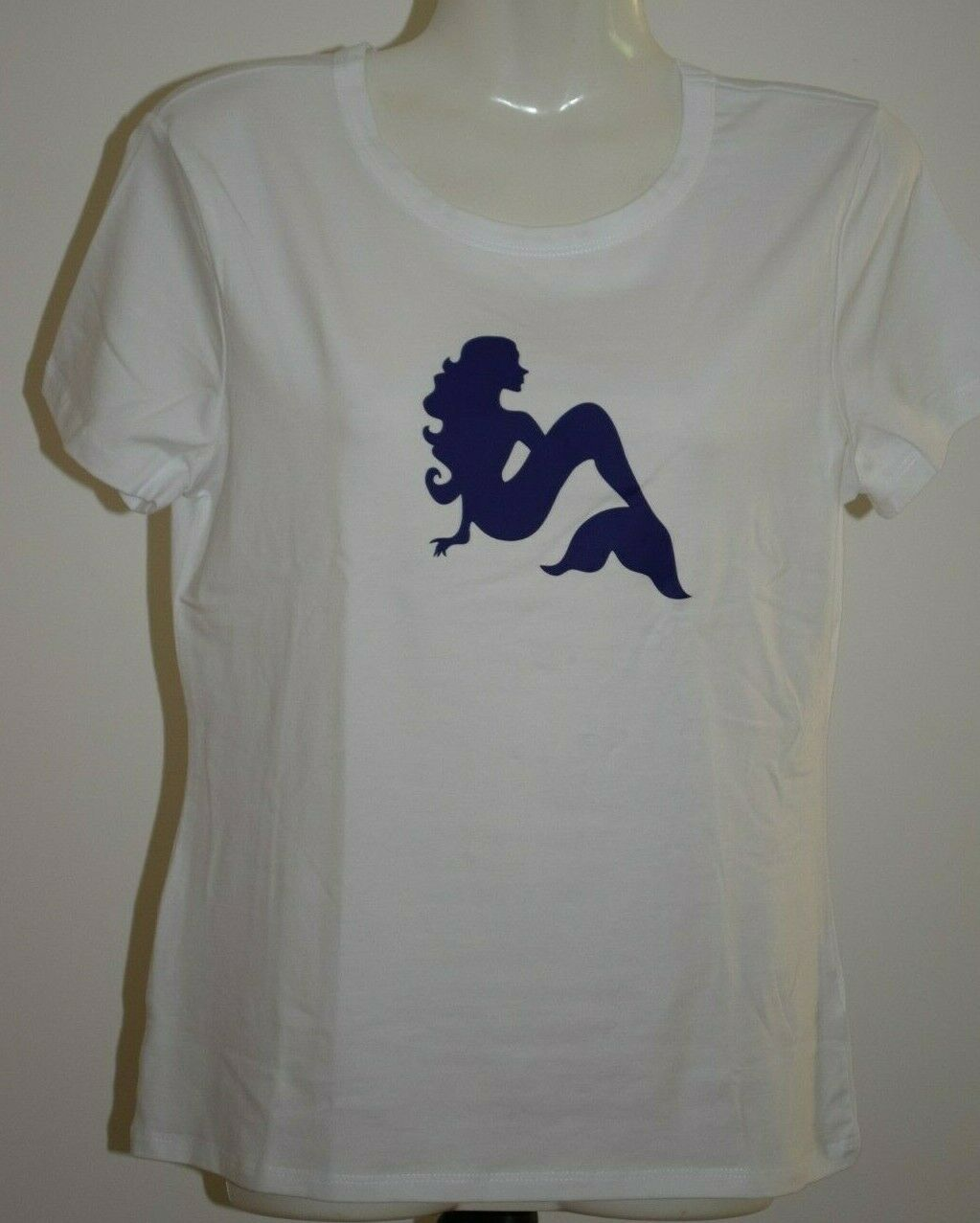 Mermaid t-shirt ladies top shirt witch pagan women's cotton small