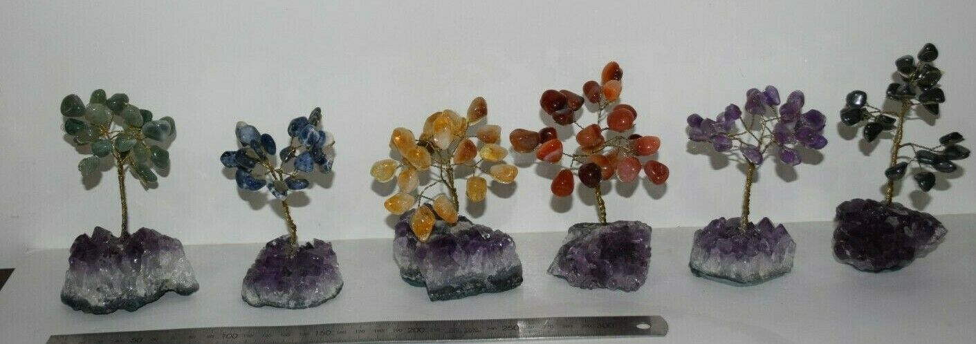 Trees crystal gemstone tree cute polished gemstone wire wrapped