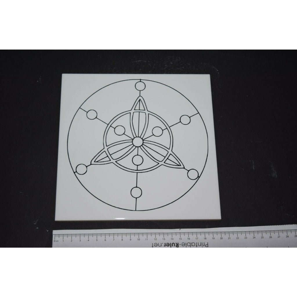 Crystal Grid Templates sacred geometry ceramic Tile Flower of life grid work